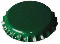 Crown corks 29mm GREEN 100 pcs